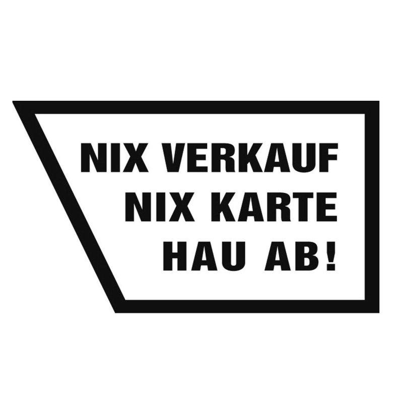 2 x aufkleber nix verkauf nix karte hau ab auto sticker. Black Bedroom Furniture Sets. Home Design Ideas