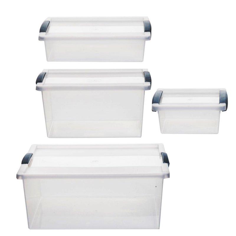 kunststoffboxen mit deckel 2 x kunststoffbox box lagerbox aufbewahrungsbox regalbox. Black Bedroom Furniture Sets. Home Design Ideas